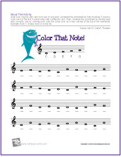 Worksheets Note Names Worksheet free printable note naming worksheets the piano student color that treble clef c position small