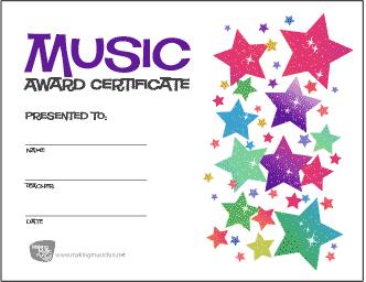 music-award-certificate-stars