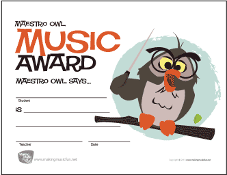 free printable award certificates – the piano student