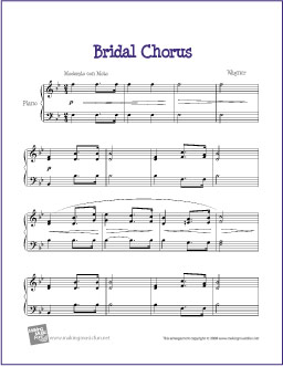 bridal-chorus-piano-solo