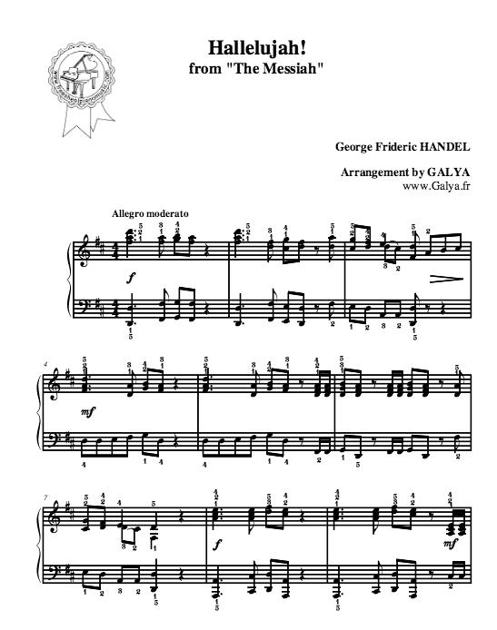 hallelujah free piano sheet music - Mersn.proforum.co