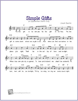 simple-gifts-lead-sheet