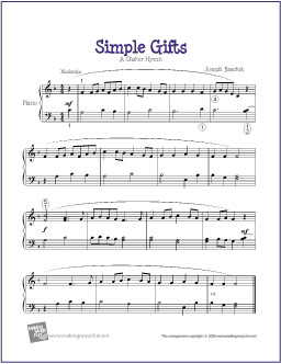 simple-gifts-piano-solo