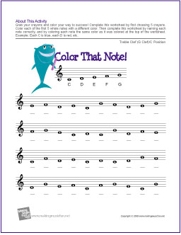 Color That Note! Note Name Worksheets | Free | the piano student