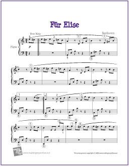 ... Free Sheet Music)   Für Elise für Klavier Solo   the piano student