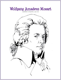 printable mozart coloring pages - photo#2