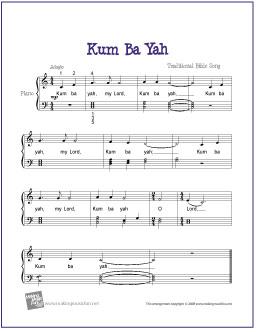 kum-ba-ya-piano-solo