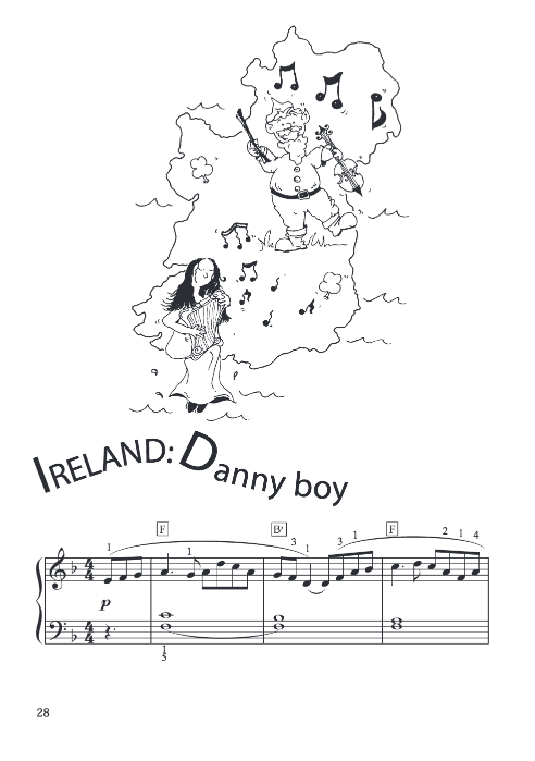 Free Sheet Music Danny Boy For Easy Piano Solo The Piano Student