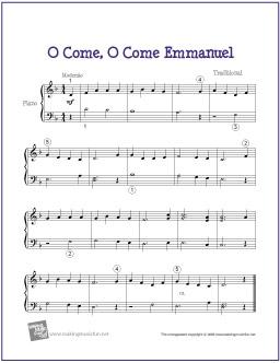 o-come-emmanuel-piano