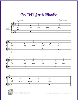 go-tell-aunt-rhodie-piano