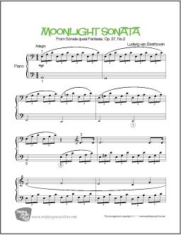 free piano sheet music pdf moonlight sonata