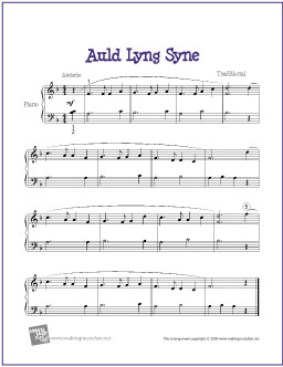 picture regarding Auld Lang Syne Lyrics Printable called Auld Lang Syne Cost-free Straightforward Piano Sheet Songs The Piano