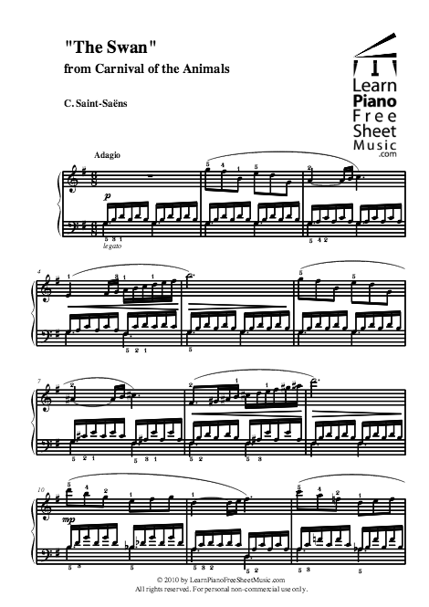 """The Swan"""" from Carnival of the Animals 
