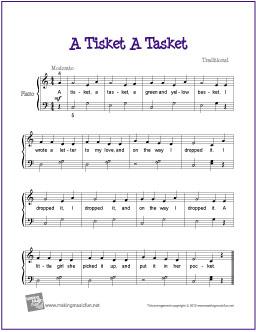 a-tisket-a-tasket-piano