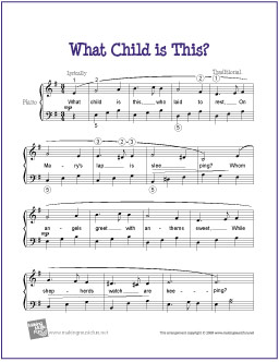 Kids Christmas Piano Sheet Music Level