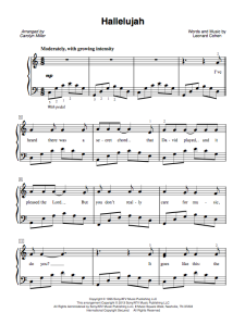Hallelujah Cohen Sheet Music Lyrics And Video The