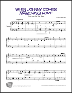 when-johnny-comes-marching-home-piano