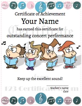 certificate-of-achievement-music